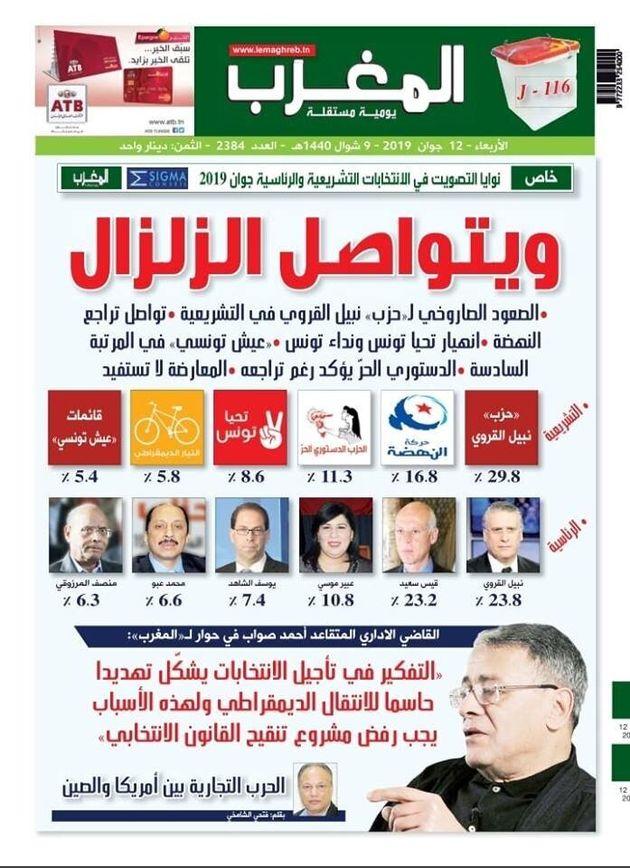 Sondage Sigma Conseil: Le parti de Nabil Karoui largement en tête des intentions de vote pour les législatives,...