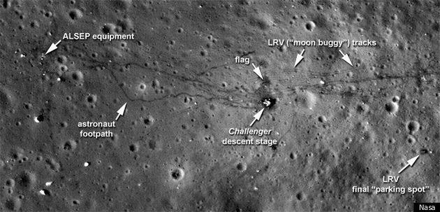 Nasa Probe Reveals High-Resolution Shots Of Apollo Moon Landing