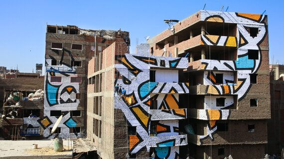 Street Artist eL Seed Changes Perceptions With Arabic Graffiti That's Optical