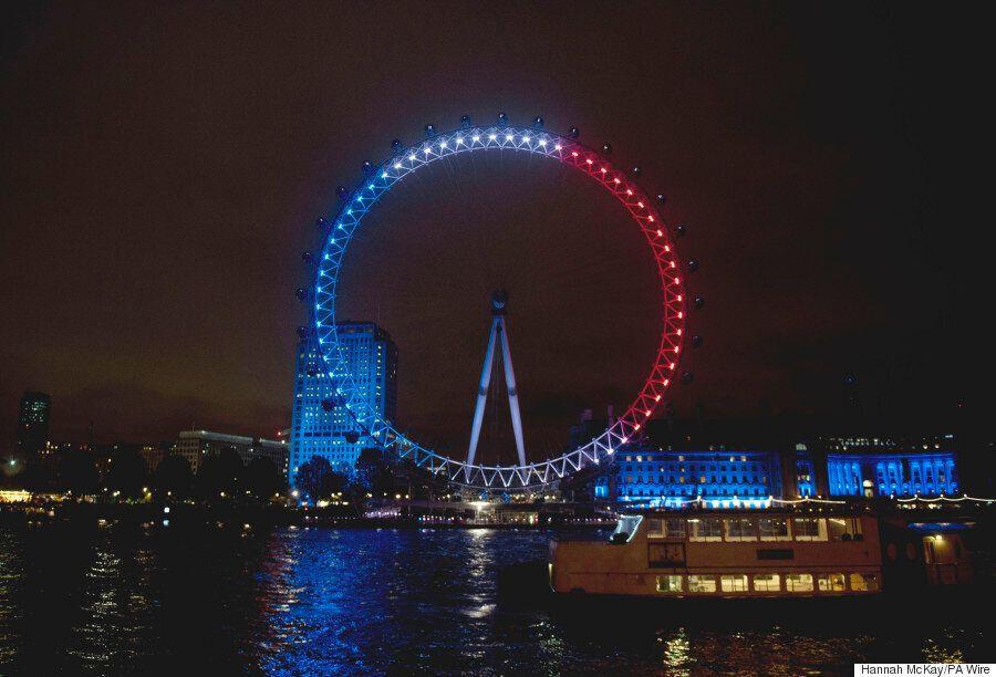 Trafalgar Square Vigil Shows London Standing Shoulder To Shoulder With Paris After