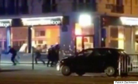 Paris Attacks: Watch Terrifying Police Shootout With Terrorists Outside Bataclan Theatre Where 89
