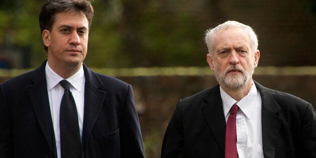File photo dated 13/11/15 of Labour leader Jeremy Corbyn (right) and his predecessor Ed Miliband, as...