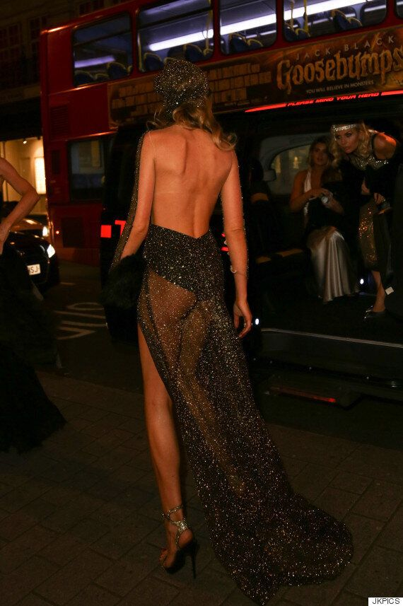 Abbey Clancy Wows In Sheer Dress At 1920s-Themed 30th Birthday Party
