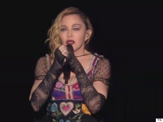 Madonna Breaks Down On Stage Paying Tribute To Paris Victims, Before Holding A Minute's Silence In