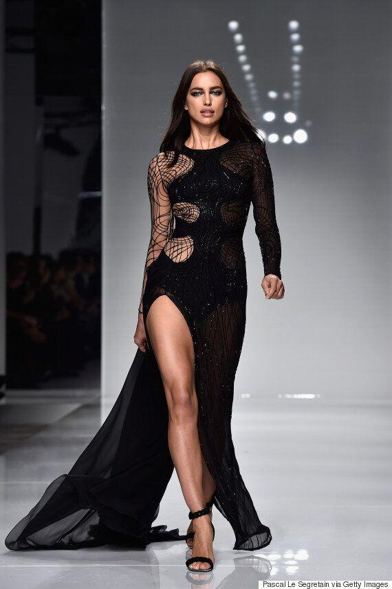 Gigi Hadid, Lara Stone and Rosie Huntington-Whiteley Showcase Model Style At Versace