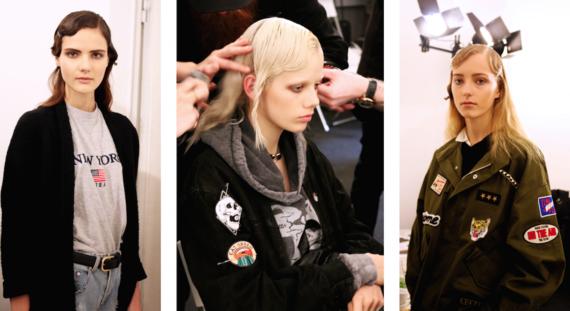 Models Backstage at Milan Fashion Week Fall