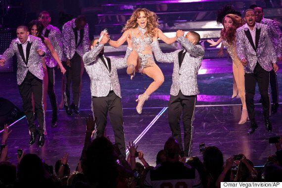 Jennifer Lopez Suffers Major Wardrobe Malfunction After Splitting Catsuit On Stage In Las Vegas