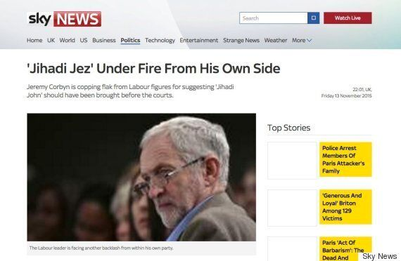 Sky News 'Jihadi Jez' Article Removed From Website After Corbyn Supporters'