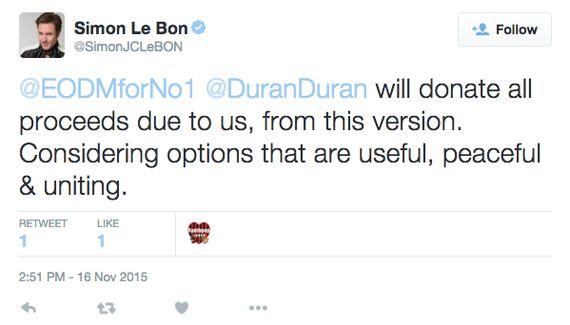 Duran Duran Lend Support to Fan-Led Music Campaign Following Paris