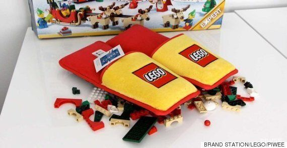 LEGO Slippers Developed In An Effort To End Parents' Misery