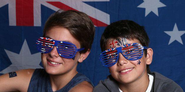 AVALON, AUSTRALIA - JANUARY 26: Young Australians celebrate Australia Day on January 26, 2016 in Avoca...