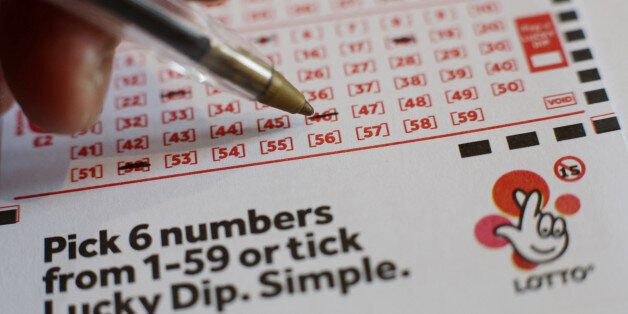 A National Lottery Lotto ticket, in north