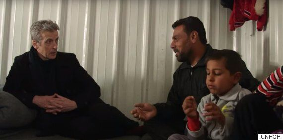 Peter Capaldi Uses Jordan Camp Visit To Remind Us All Of The One Thing Syrian Refugees Want - To Go