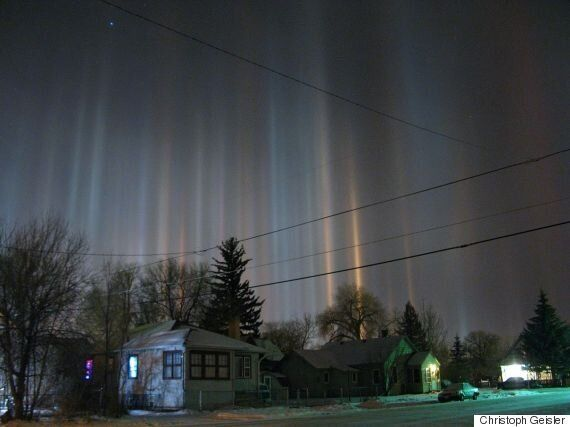 Stunning Light Pillars Phenomenon Sparks Claims Of An Alien