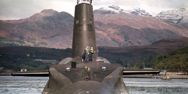 File photo dated 30/01/02 of the Royal Navy's 16,000 ton Trident-class nuclear submarine Vanguard, as...