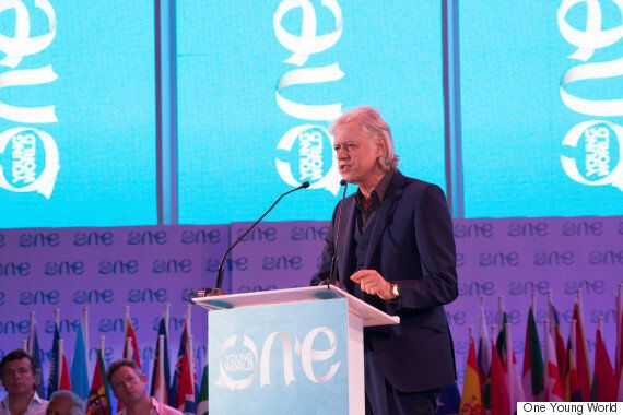 Sir Bob Geldof Tells Millennials Their Hands Are 'Stained With Blood' At One Young World