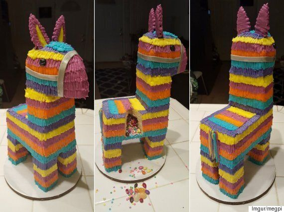 Awe Inspiring This Pinata Cake Filled With Sweets Is The Only Birthday Cake We Funny Birthday Cards Online Benoljebrpdamsfinfo
