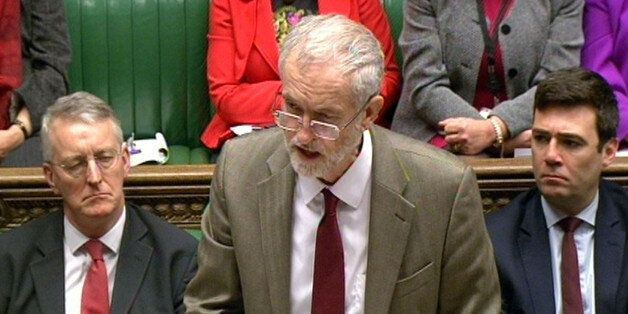 Labour leader Jeremy Corbyn speaking about the Paris attacks in the House of Commons,