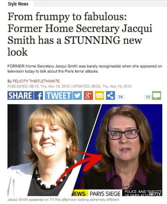 Daily Express Says Paris Attacks Talk From Ex-Home Secretary Makes Her Look
