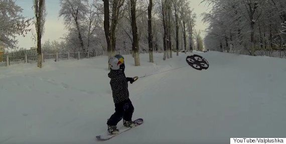 Snowboarding Kid Being Pulled By A Drone Is The Start Of An Incredible New