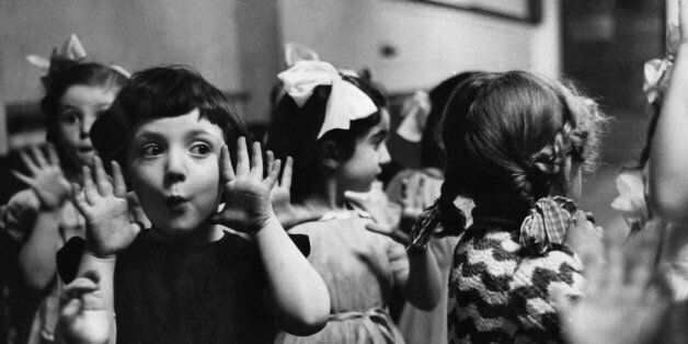 The Italia Conti school for aspiring actors and actresses, founded in 1911. Pupils are taught dancing, acting, elocution and singing.Picture Post - 5883 - A Nursery Of Stage Stars - pub. 1952