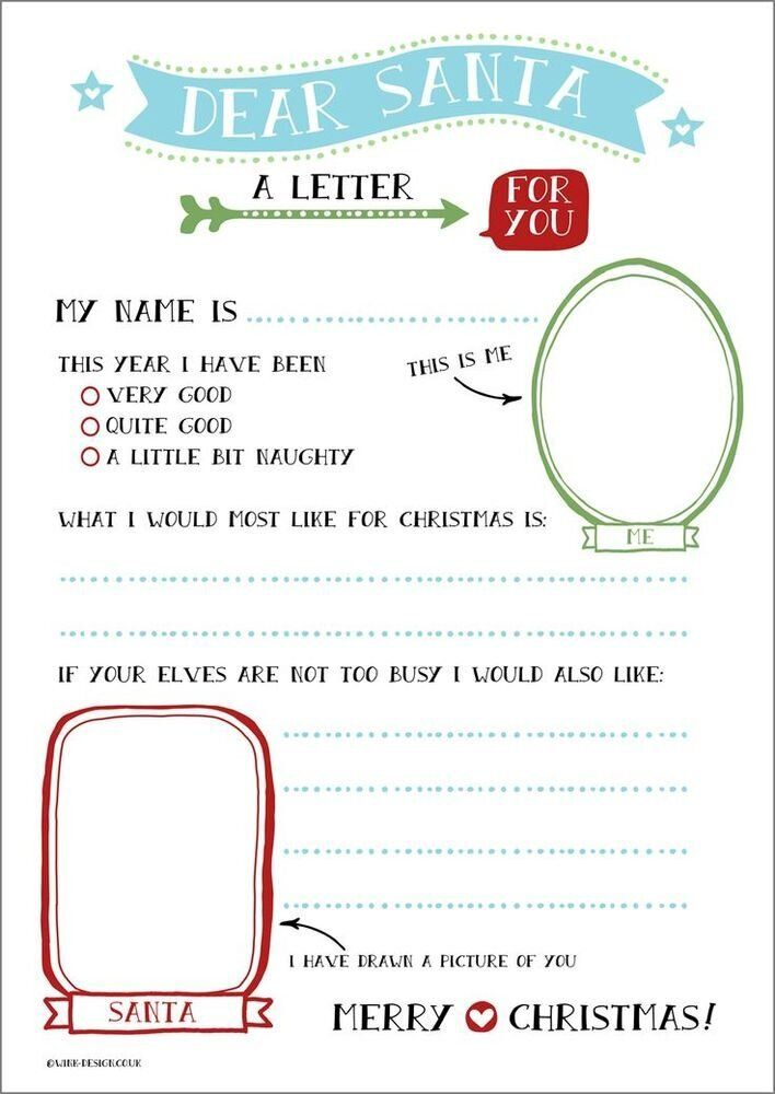 image about Printable Letters to Santa titled Letter Toward Santa Templates: 16 Free of charge Printable Letters For