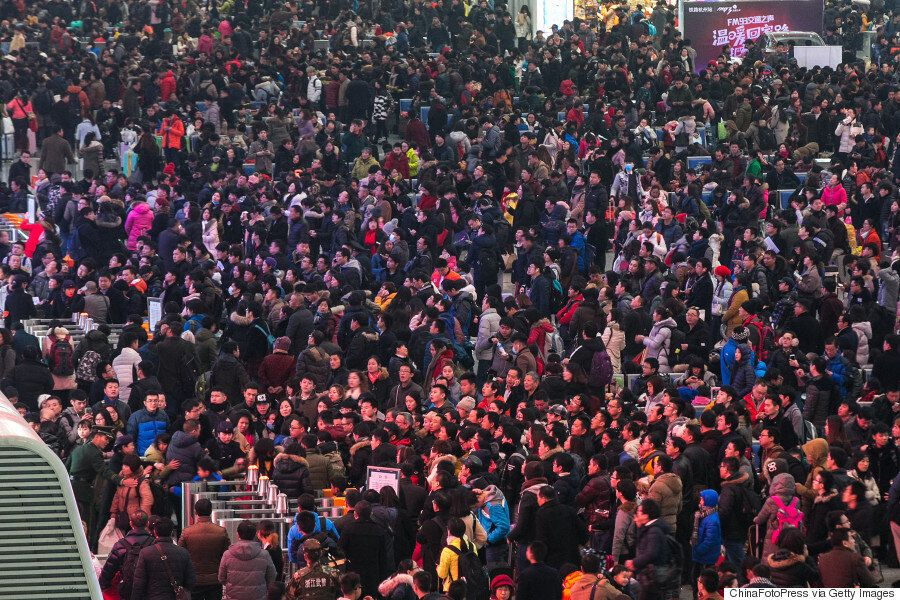 Chinese New Year Travel Rush Leaves 100,000 People Stranded At Guangzhou Train