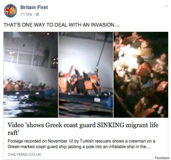 Britain First Celebrate Drowned Refugees, Supporters React With