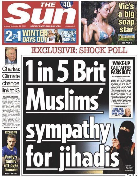 The Sun's 'One In Five British Muslims' Poll Front Page Sees More Complaints Than Katie Hopkins' Migrants