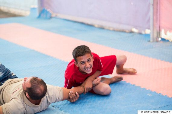 This Syrian Refugee Is Being Trained By A Wrestling Champion So He Can Escape Camp