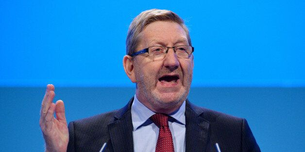 Unite trade union General Secretary Len McCluskey addresses delegates during the second day of the Labour...