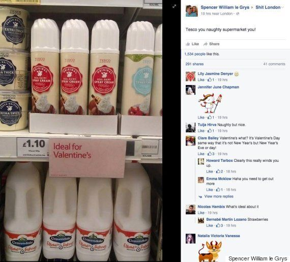 Tesco S Naughty Valentine S Suggestions Were The Work Of Mischievous Shoppers Huffpost Uk Life