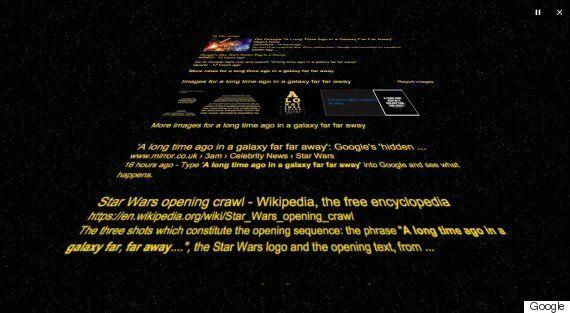 Google: 'A Long Ago In A Galaxy Far Far Away' For A Star Wars Themed