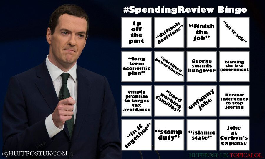Autumn Statement And Spending Review BINGO! Let's