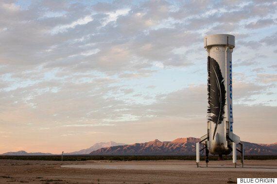 Amazon's Jeff Bezos Lands First Reusable Space