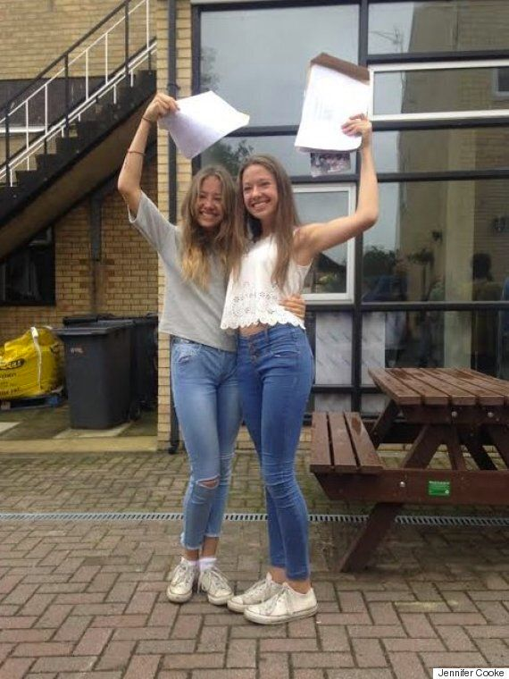 GCSE Results Day 2015: Identical Twins Charlotte And Chloe Cooke Get Identical