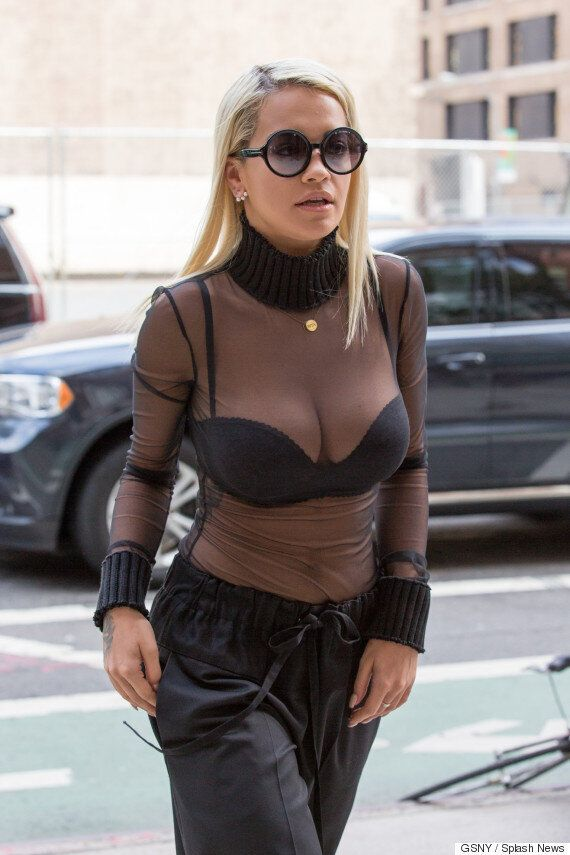 Kim Kardashian, Rita Ora And Halle Berry Rock Identical Sheer Tops - Is This The New 'Naked