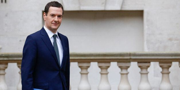 George Osborne, U.K.'s Chancellor of the Exchequer, departs for the Houses of Parliament to deliver the...