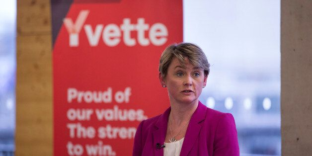 Labour party leadership candidate Yvette Cooper speaks during a Women's event on August 19, 2015 in London,...