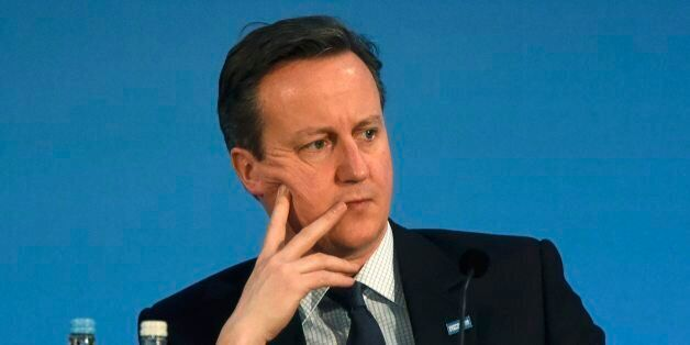 Prime Minister David Cameron during the 'Supporting Syria and the Region' conference at the Queen Elizabeth...