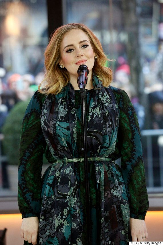 ADELE Performs at Glastonbury Festival at Worthy Farm in