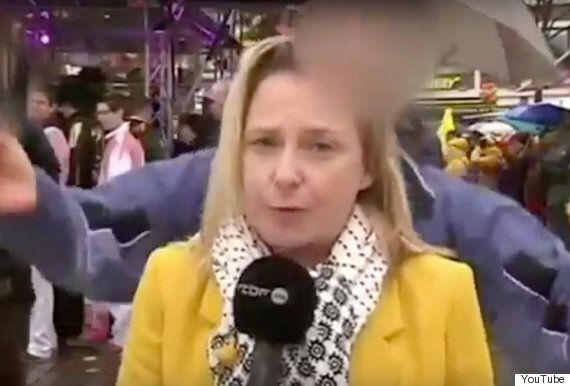Female Journalist, Esmerelda Labye, Groped Live On Air At Cologne