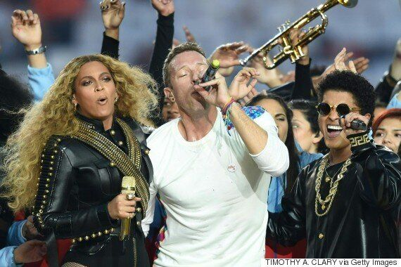 Beyoncé Steals The (Halftime) Show From Coldplay During Super Bowl Set, As Even A Near-Fall Can't Keep...