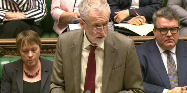 Labour leader Jeremy Corbyn responds after Prime Minister David Cameron made a statement to MPs in the...
