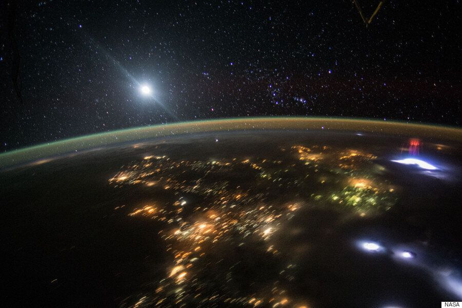 Astronaut Captures Picture Of Stunning Rare 'Red Sprites' In The