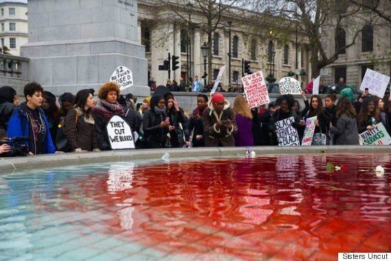 Sisters Uncut March Through London In Protest Against Cuts To Anti-Domestic Violence