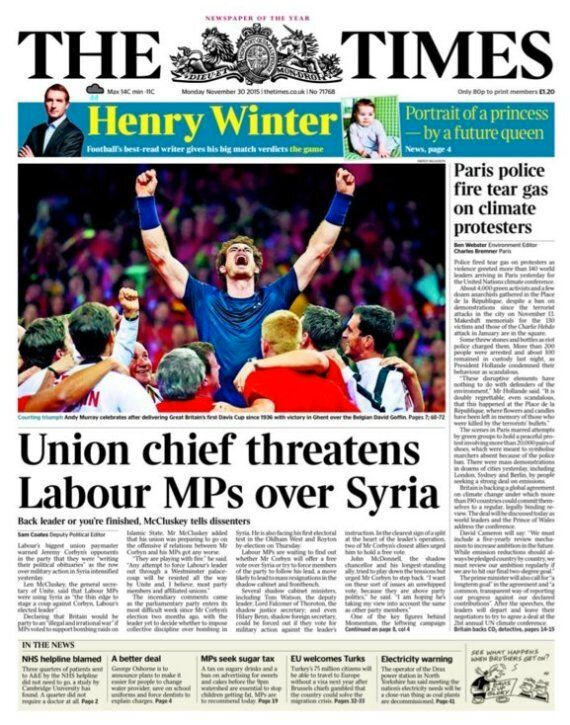 Jeremy Corbyn Faces Showdown With Labour Shadow Cabinet Over Syria After Len McCluskey's