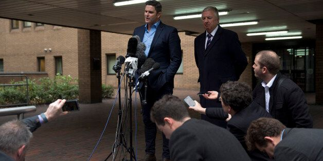 Former New Zealand cricket captain Chris Cairns speaks to the media after being found not-guilty in his...