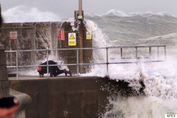Woman Who Tried To Take Pictures Of Storm Imogen Left Seriously Injured After Wave Threw Her Into