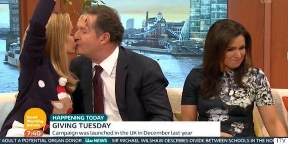 Piers Morgan Puckers Up To Amanda Holden... But Susanna Reid Is Having None Of It